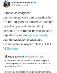Erika Guevara-Rosas Tweet