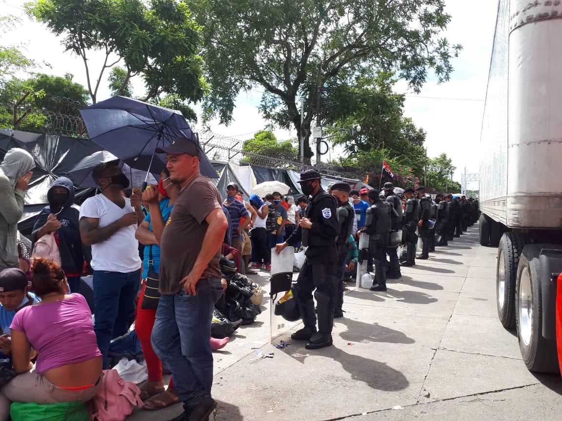 Migrantes Nicas en Peñas Blancas