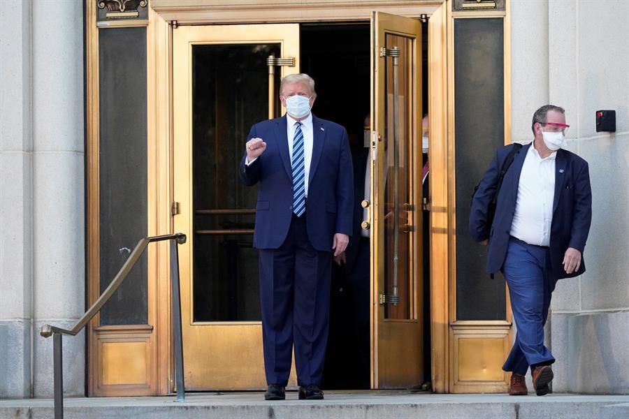 El presidente de Estados Unidos, Donald J. Trump, salió del hospital
