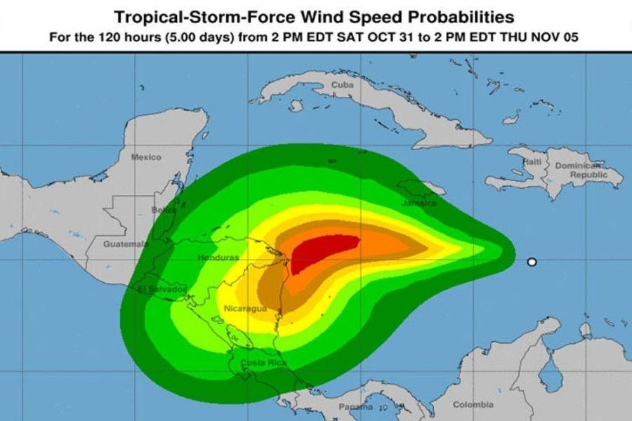 Nicaragua en la ruta de la tormenta