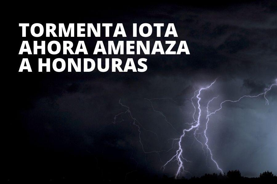Iota hacia Honduras