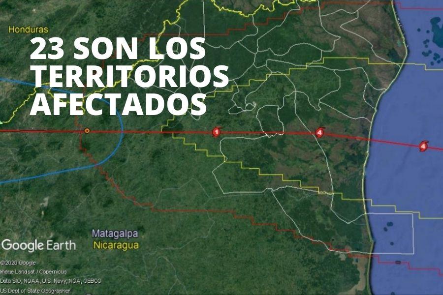 Iota y los territorios indígenas
