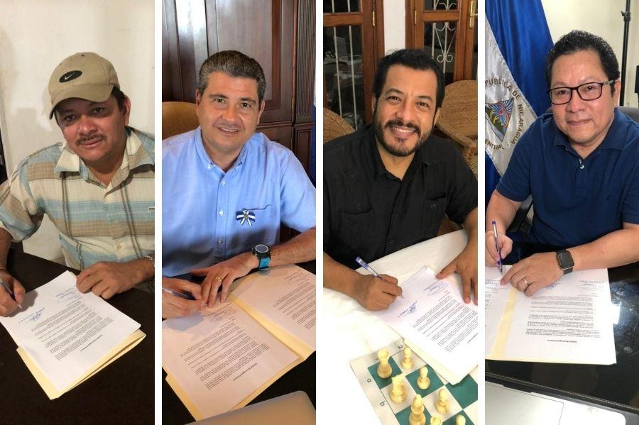 Líderes firman compromiso