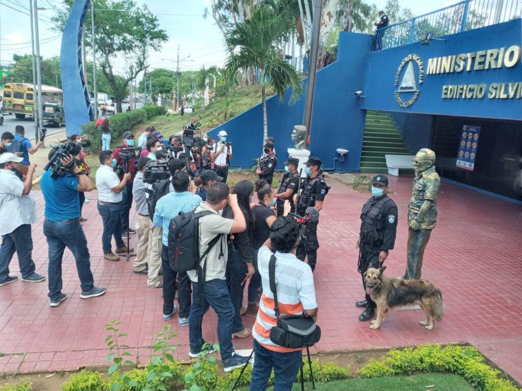 Regimen sandinista contra periodistas